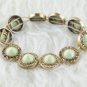 J. Crew | Gold & Green Bracelet